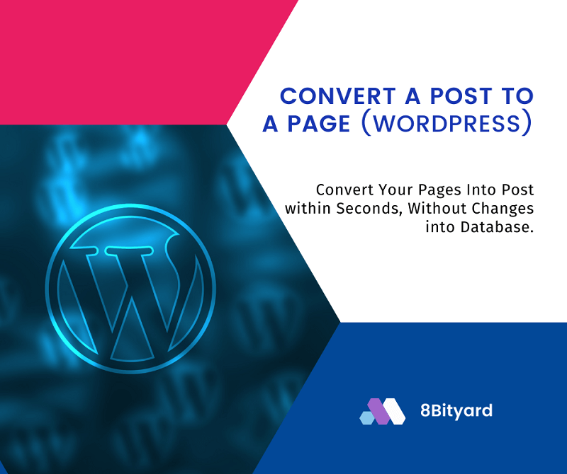 Convert a Page to a Post In WordPress