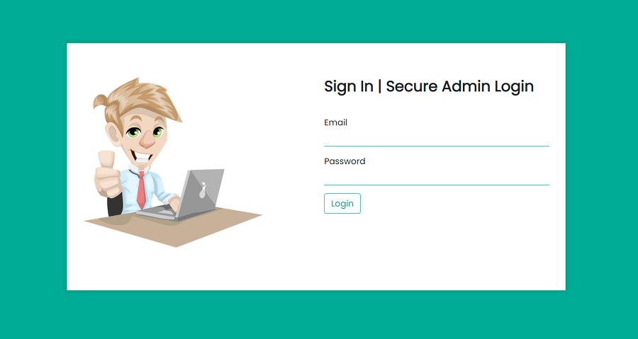 secure admin login using PHP