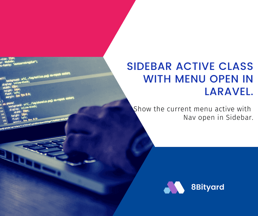show the current menu active in laravel