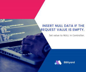 Insert null data if the request value is empty in Laravel