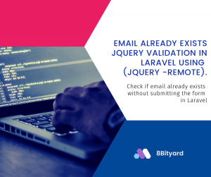 email already exist in laravel jQuery